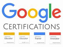 Image of the Google Certifications logo